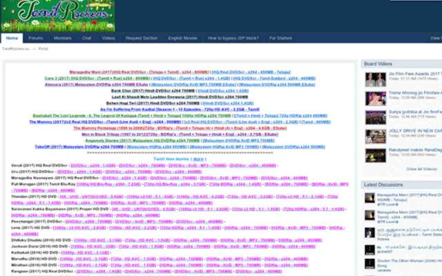 Tamilrockers 2021- Illegal movies downloading website