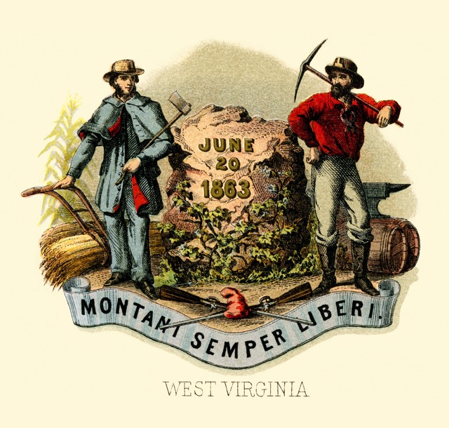 West Virginia state coat of arms illustrated 1876