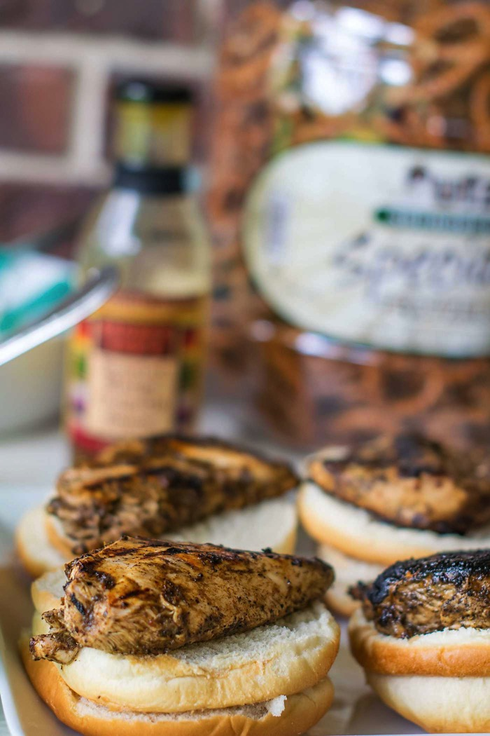 Jerk Chicken Sandwiches with Mango Chipotle Coleslaw ...