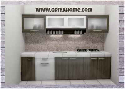 Desain kitchen set minimalis pertama
