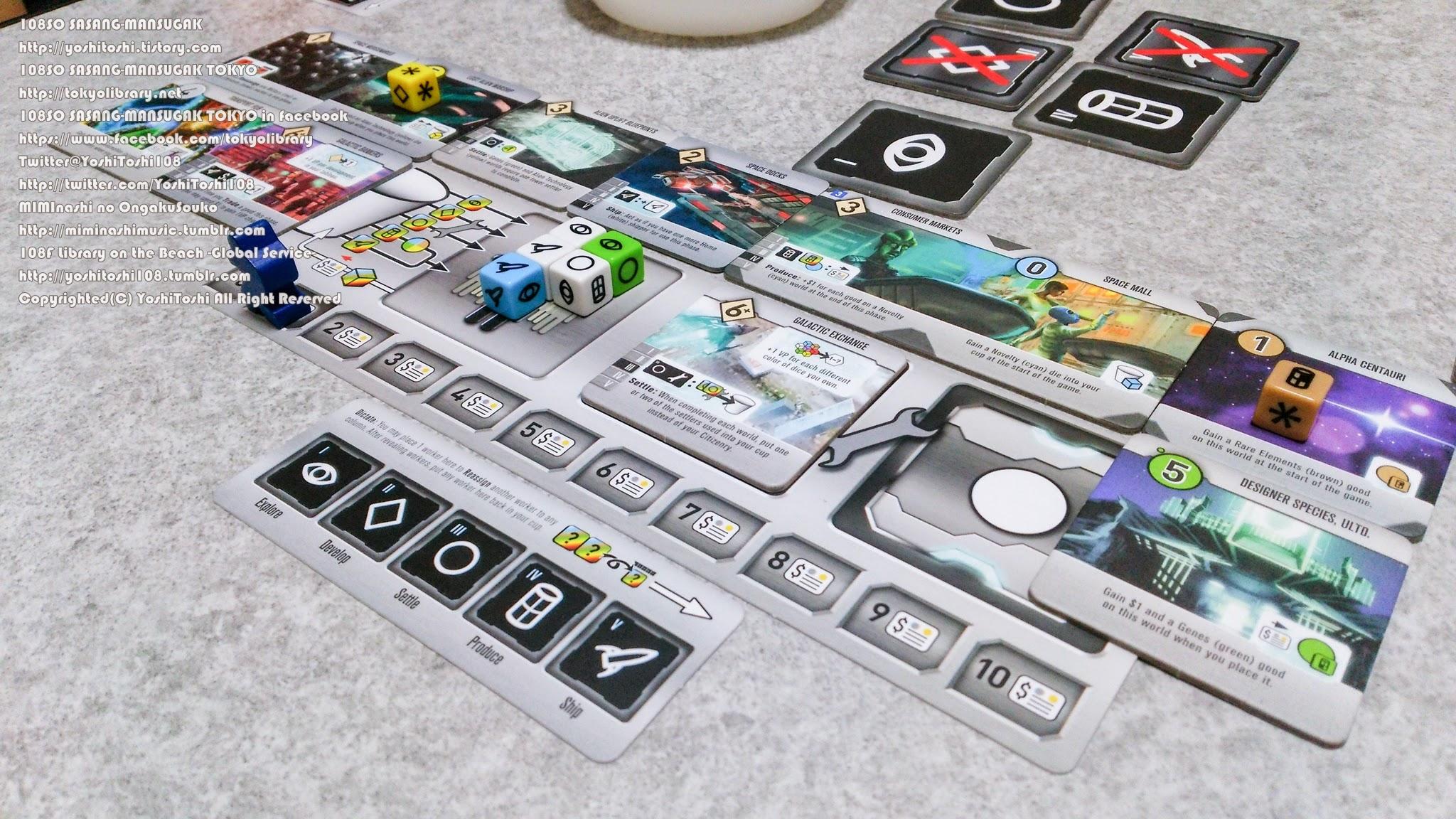 ル・アーブル:内陸港 Roll for the Galaxy ロール・フォー・ザ・ギャラクシー 逃げゾンビ 写真