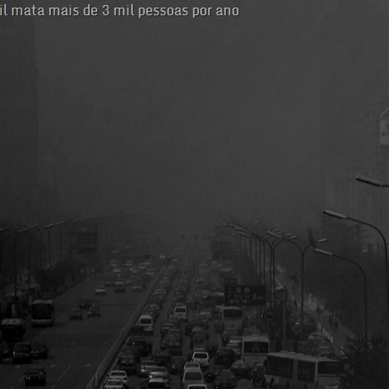 Respirar taxas desumanas de enxofre nas grandes cidades: coisas do Brasil