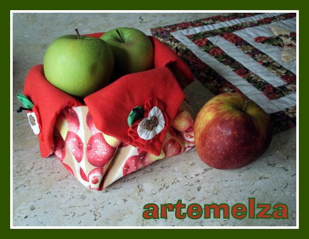 artemelza - cestinha maçã
