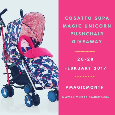 cosatto supa pushchair magic unicorn giveaway