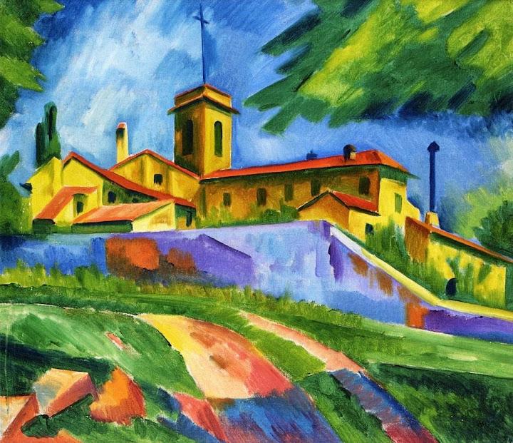 Max Pechstein - Italian Church - Convent of San Gimignano