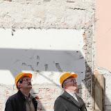 2012.04.10. Polgármesteri szemle a Tűztorony felújítási munkálatainál és a Várfalsétány kialakításán