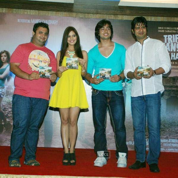 Celebs unveil the music of Bollywood movie 'Trip to Bhangarh', at Time N Again on July 28, 2014.(Pic: Viral Bhayani)