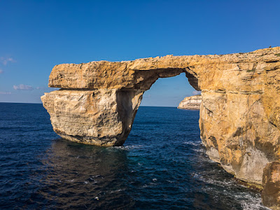 Geocaching auf Malta - Gozo - Azure Window
