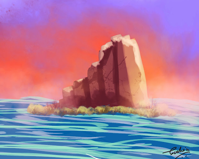 island digital painting