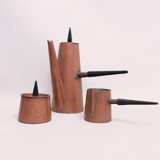 Douro Copper Coffee Set