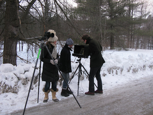 Our photographer Dana Gallagher and her assistants.