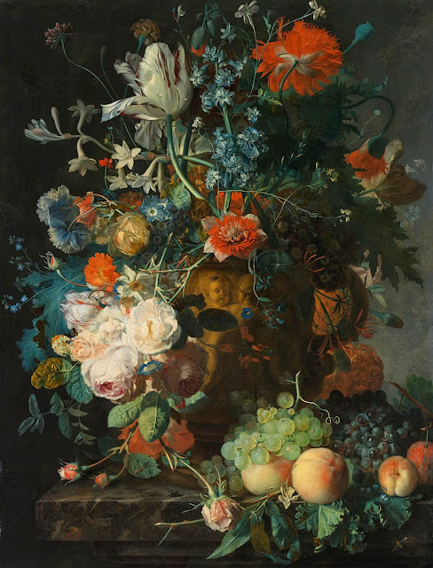 Jan van Huysum - Still Life with Flowers and Fruit - Google Art Project