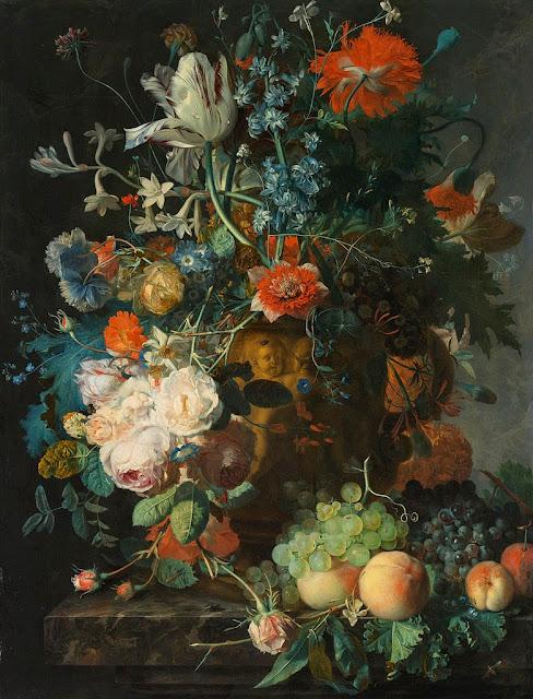 Jan van Huysum - Still Life with Flowers and Fruit - Google Art Project