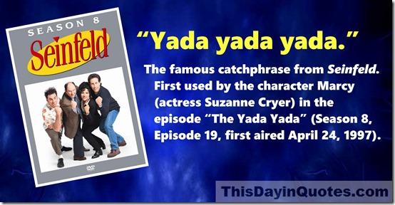 Yada Yada quote Seinfeld