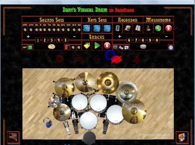 لعبة محاكى الدرامز Danys Virtual Drum 2.0 Beta 4