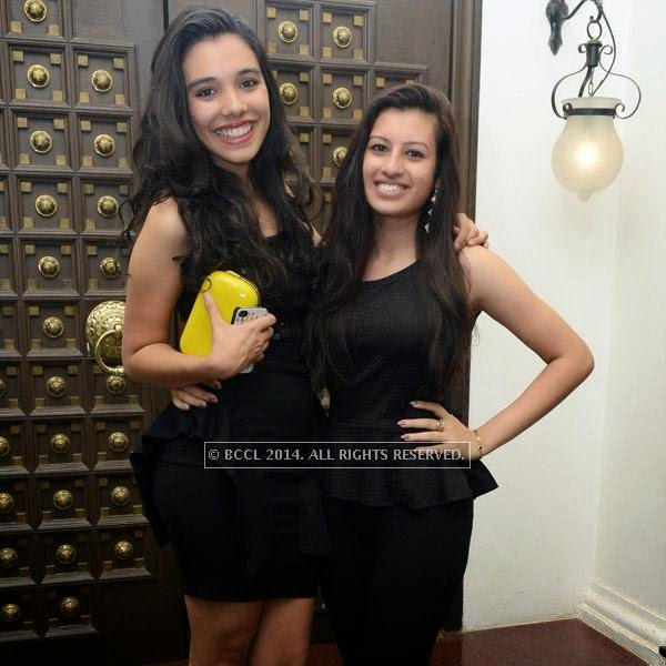 Tanitha and Nicolle pose together during the 12th anniversary party of Dublin, held at Sheraton Park and Towers.