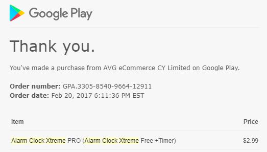 paid in app to upgrade to pro got google receipt but no pro