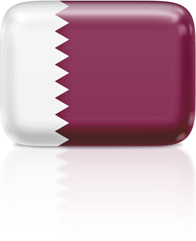 Qatari flag clipart rectangular