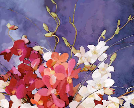"""The """"Orchid Bouquet"""" piece from the """"2000"""" collection"""