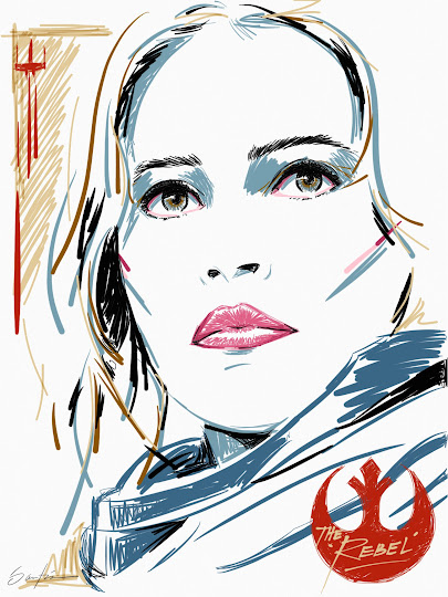 \'The Rebel\' - Felicity Jones made with Sketches
