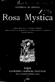 Cover of Stanislas de Guaita's Book Rosa Mystica (1885,in French)