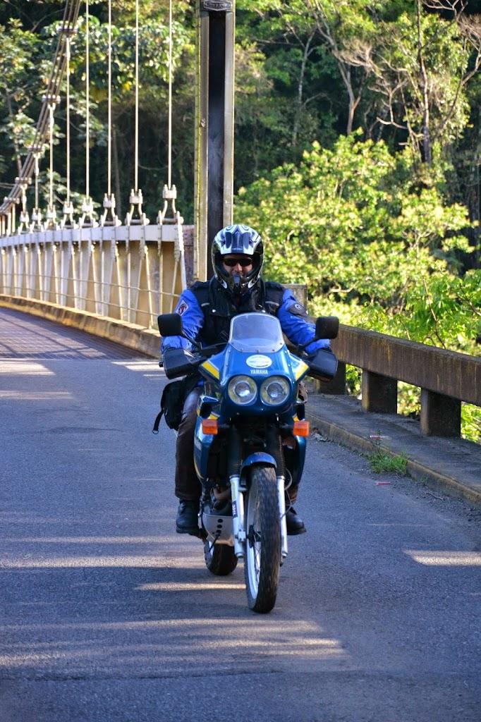 Hängebrücke auf der Fahrt nach La Fortuna