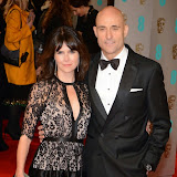 OIC - ENTSIMAGES.COM - Liza Marshall and Mark Strong at the EE British Academy Film Awards (BAFTAS) in London 8th February 2015 Photo Mobis Photos/OIC 0203 174 1069