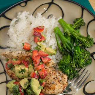 Chicken Cutlets with Strawberry-Avocado Salsa