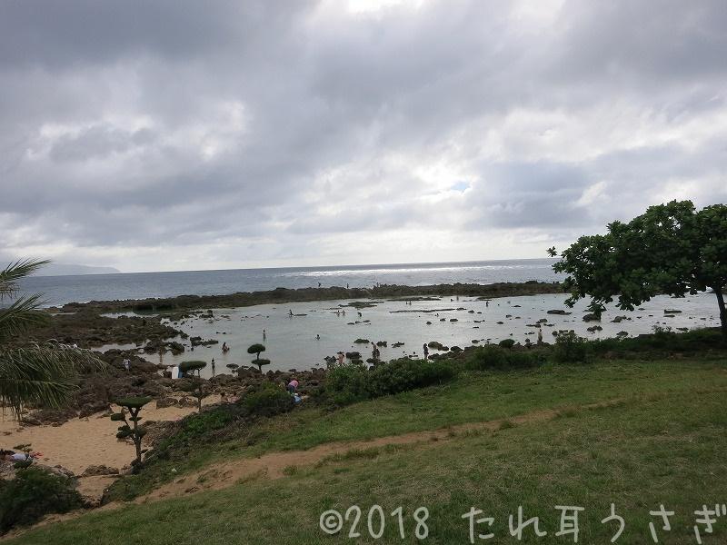 ハワイ旅行㉛ ププケアビーチパーク・シャークスコーブに行ってきたのでレビュー・駐車場 シュノーケリングの穴場