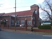 Side view of church, looking N across Lamond