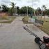 Realizan limpieza de parques y jardines de Huatabampo