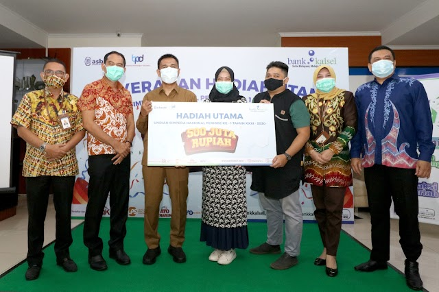 Hore, Nasabah Bank Kalsel Raih Hadiah Utama Rp500 Juta Tabungan Simpeda Nasional