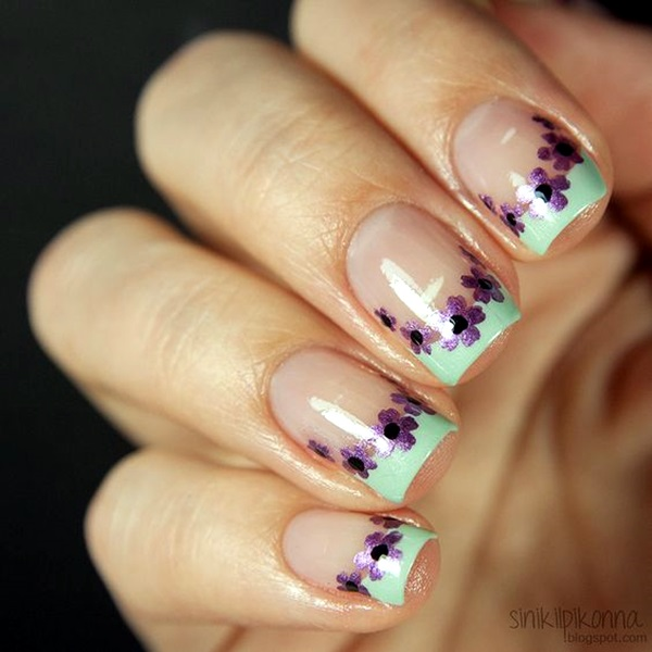 Latest Flower Nail Art Desgins Ideas In 2018 3
