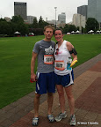 Post-race picture in Centennial Olympics Park. Mike blinked.