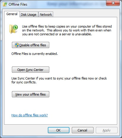 disable recent files windows 7