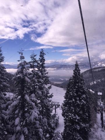 View from the gondola at Nozawa Onsen ski fields on Christmas day