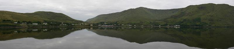 Leenane from across Killary Harbour panorama