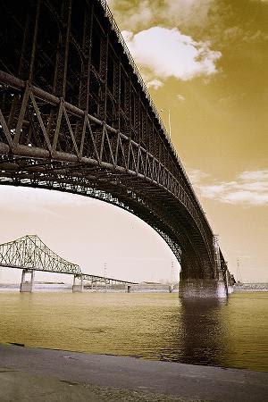 """Eads Bridge (Circa 1970) by Ron Edwards. Photography."