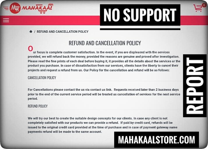 MahakaalStore.com Scam