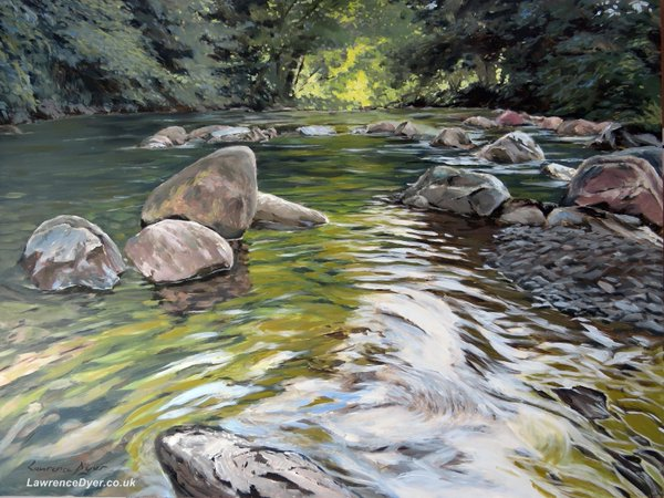 Okement River. Artist Lawrence Dyer