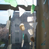 sea glass mobile suncatcher
