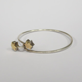 Tiffany & Co. 18K Gold and Sterling Silver Star Wire Bracelet