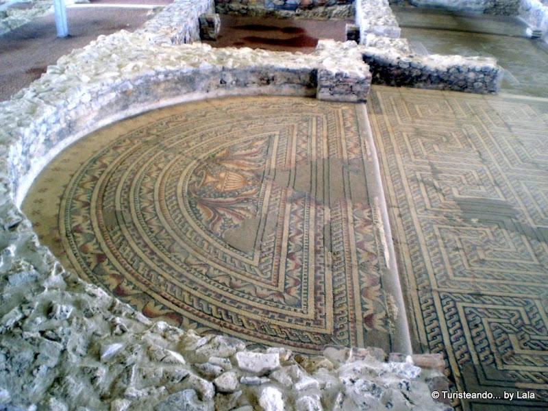 Mosaicos del Museo de las Villas Romanas, en Almenara de Adaja