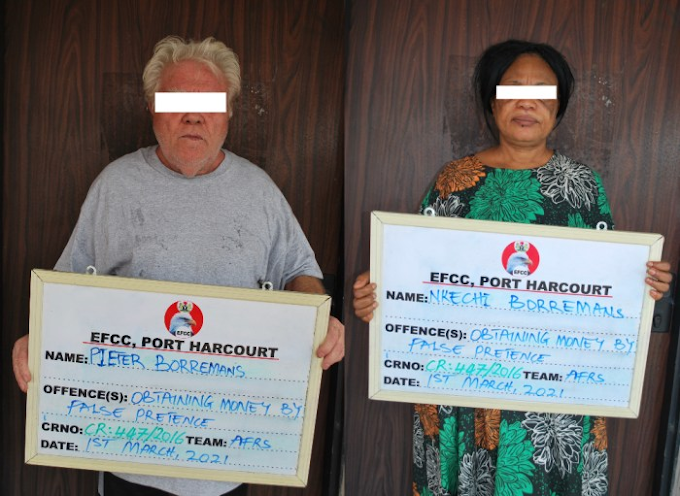 EFCC Arraigns Dutch Couple For '$330,000 Oil Vessel Fraud'