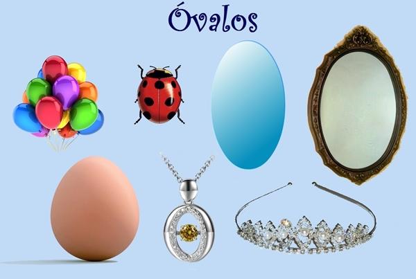Objetos ovalados y ovoides