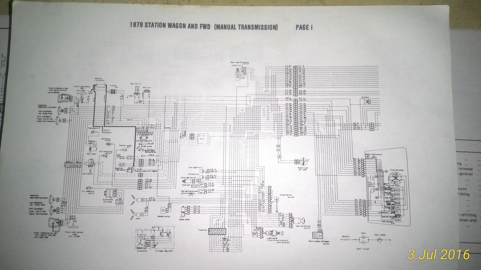 1GEN Brumby/Brat - Wiring diagrams