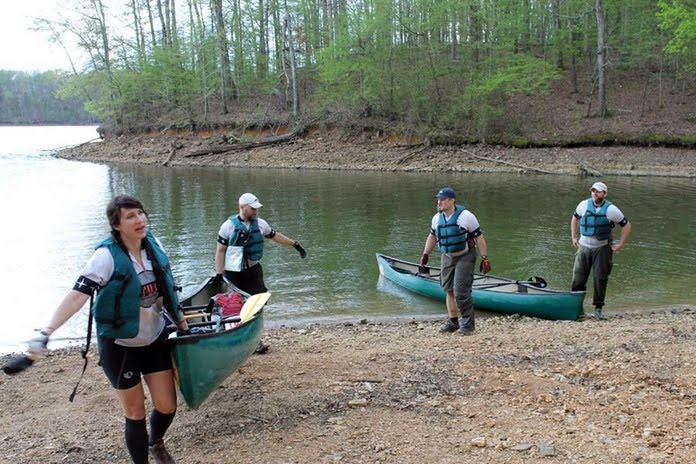 Canoe take-out at LBL Challenge AR