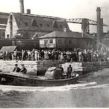 The Thomas Kirk Wright (1939-1962) launches from the old boathouse