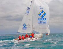 J/24 one-design sailboats- sailing Italian National Championships
