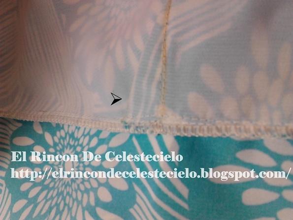 Uniendo corte imperio a la falda del vestido o blusa